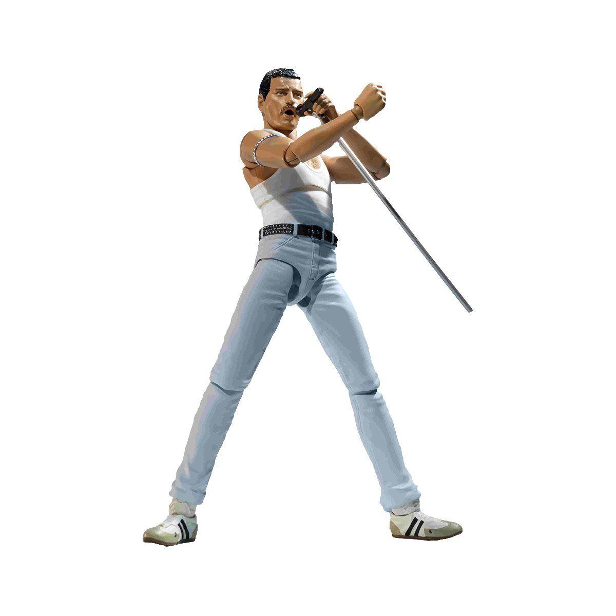 Queen Freddie Mercury Live Aid Version S H Figuarts Action Figure Queen Freddie Mercury Freddie Mercury Figur