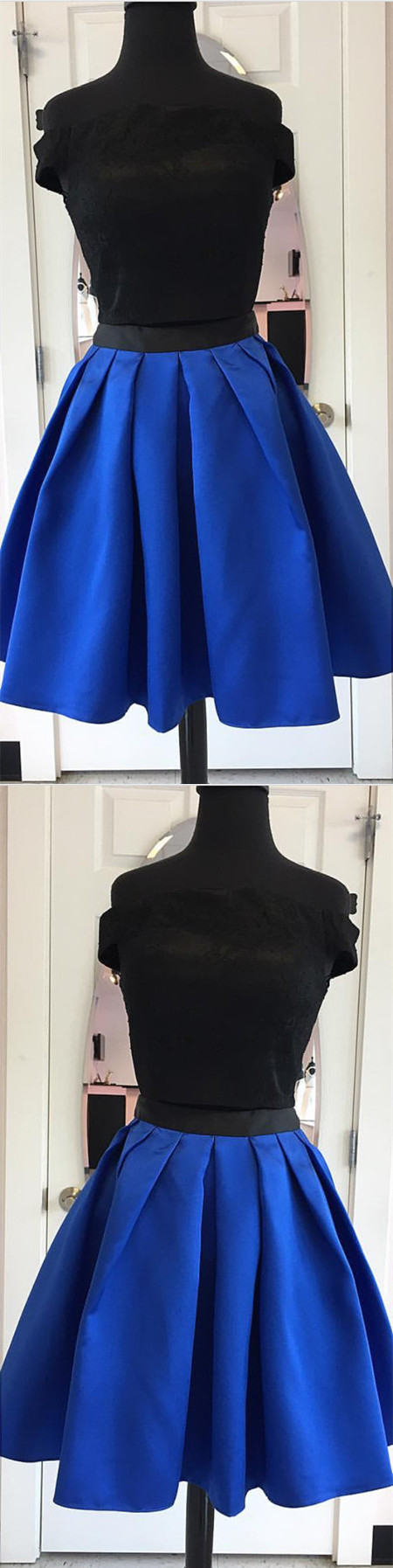 Two piece homecoming dress piece homecoming dressshort prom