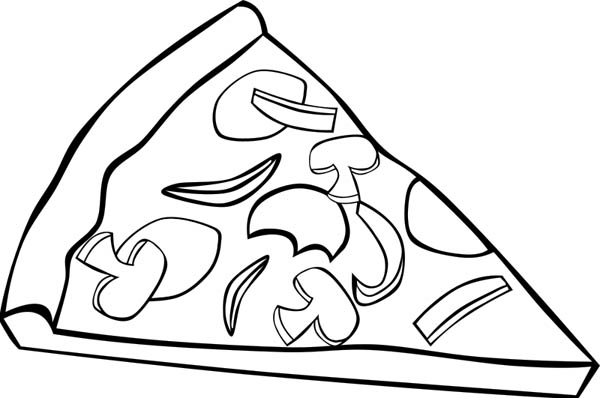 Slice Of Pizza With Mushroom Topping Junk Food Coloring Page Download Print Online Coloring Pages Fo Pizza Coloring Page Food Coloring Pages Coloring Pages