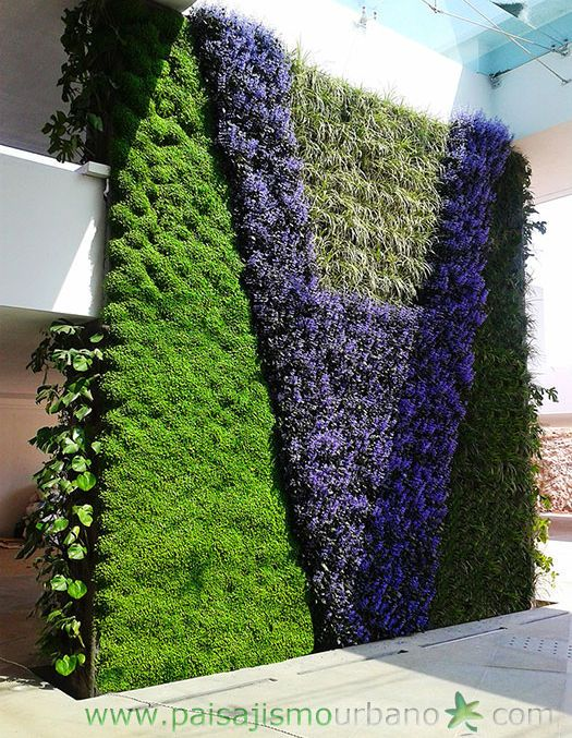 Jardin vertical jardines verticales muro verde muros for Muros verdes arquitectura