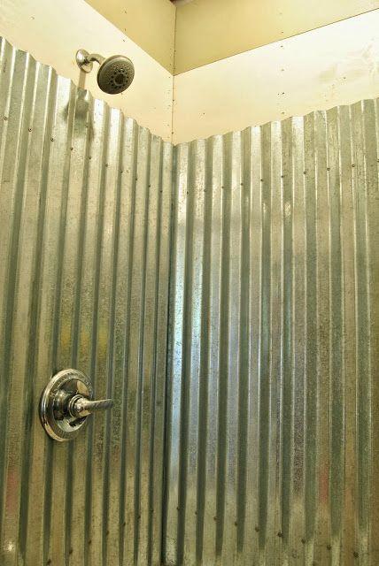 Cottage Dreamers: Galvanized corrugated metal shower surround Q ...