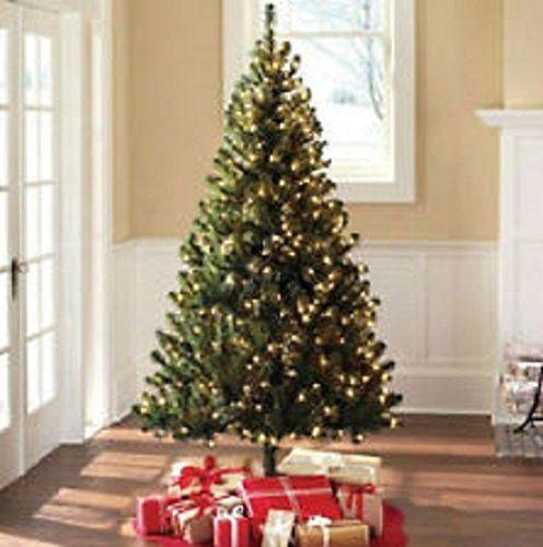 Madison Pine Christmas Tree: 6.5 Ft Artificial Christmas Green Madison Pine Tree Pre