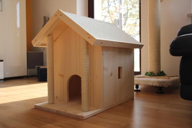 Die Obi Selbstbauanleitungen Katzenhaus Katzen Haus Und Katzen