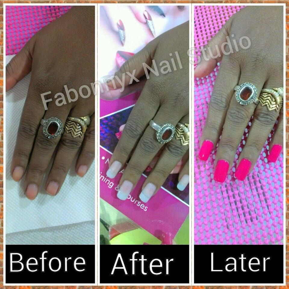 Before and after nail extensions images. How to make nails long ...