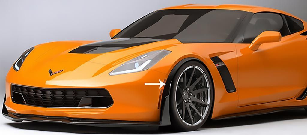 20152017 C7 Corvette Z06/Grand Sport Hydro Carbon Fiber