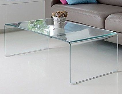 Fab Glass And Mirror Bent Glass Coffee Table 3 8 Quot Thick