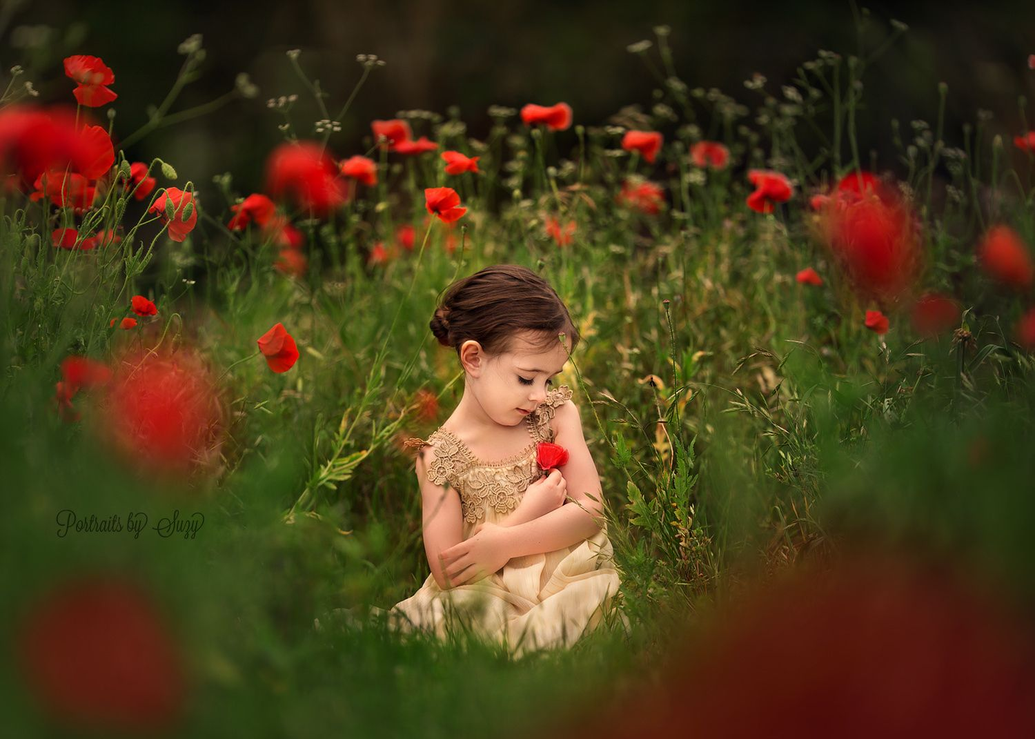 """Poppy Garden - Beautiful Mia in a poppy field. Thank you for liking, commenting and adding to faves! For more please visit my pages here:   <a href=""""http://www.facebook.com/portraitsbysuzy"""">Facebook</a>   <a href=""""http://instagram.com/portraitsbysuzy/"""">Instagram</a>   <a href=""""http://twitter.com/suzyportraits"""">Twitter</a>   <a href=""""http://portraitsbysuzy.com"""">Website</a>   Thank you!"""