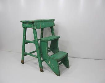 Enjoyable Vintage Wooden Step Stool Farmhouse Wood Step Stool Rustic Ibusinesslaw Wood Chair Design Ideas Ibusinesslaworg