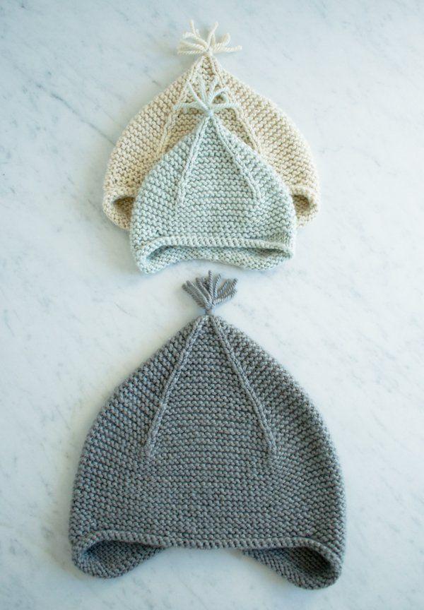 Garter Ear Flap Hat | Purl Soho | hats/knitted | Pinterest ...