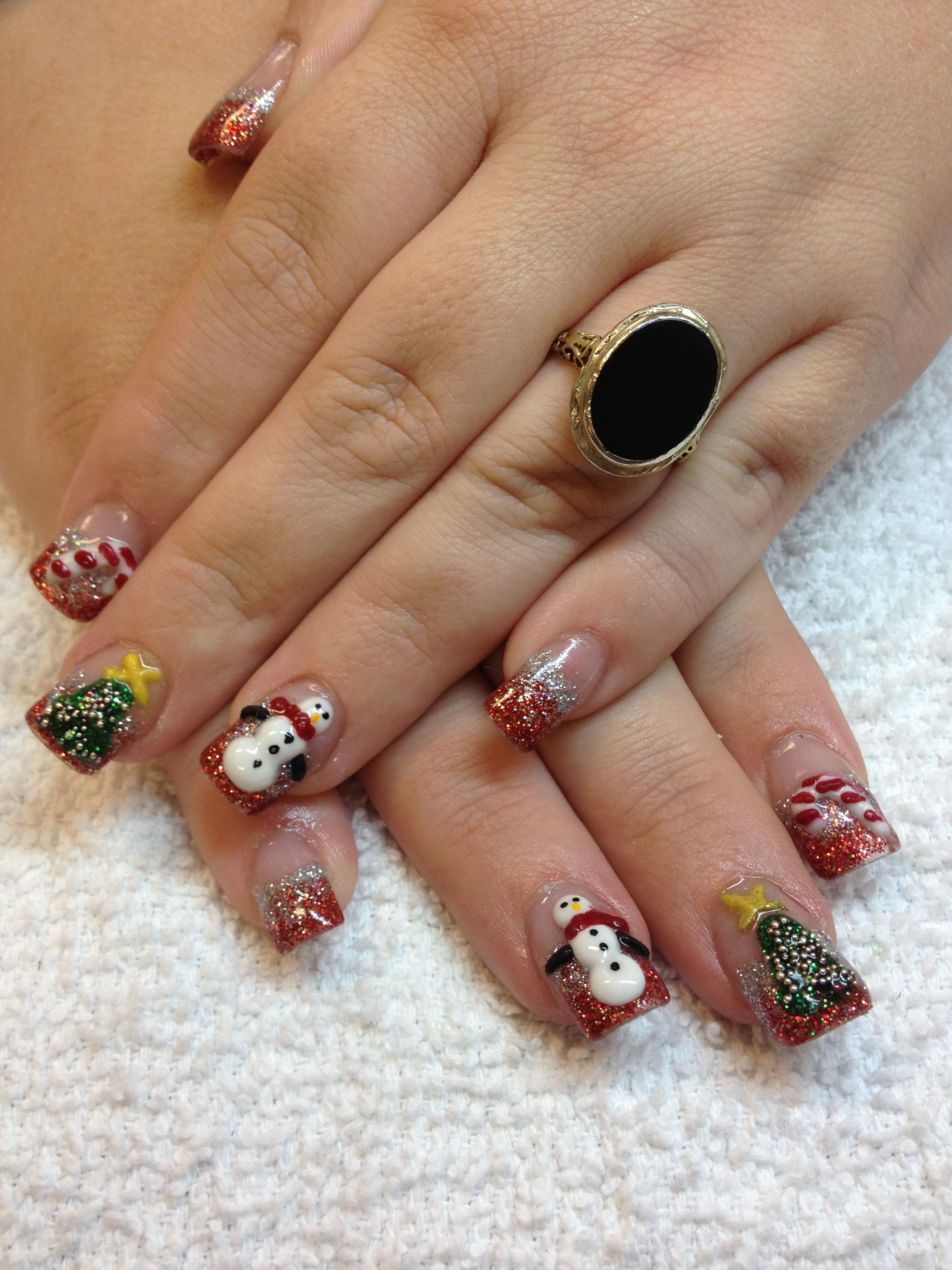 Christmas 3d nail art in las vegas nail art pinterest christmas 3d nail art in las vegas prinsesfo Images