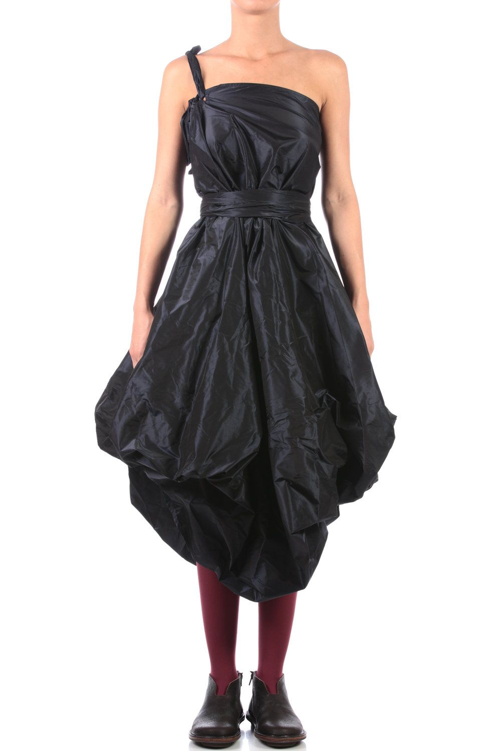 Daniela Gregis    shot silk taffeta dress skirt  full length flared skirt in shot silk taffeta, drapeable length with side buttons and eyelets, high self belt, wearable as a dress, with a single strap, wearable in various ways  1,160.00 €  100% silk
