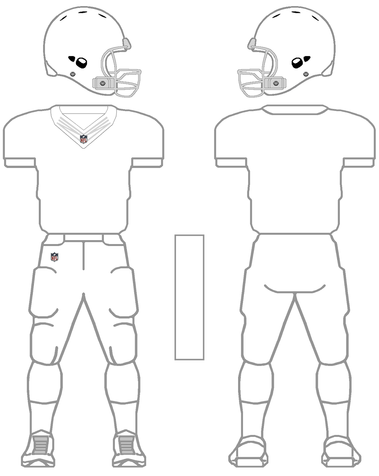Printable NFL Football Jersey Template