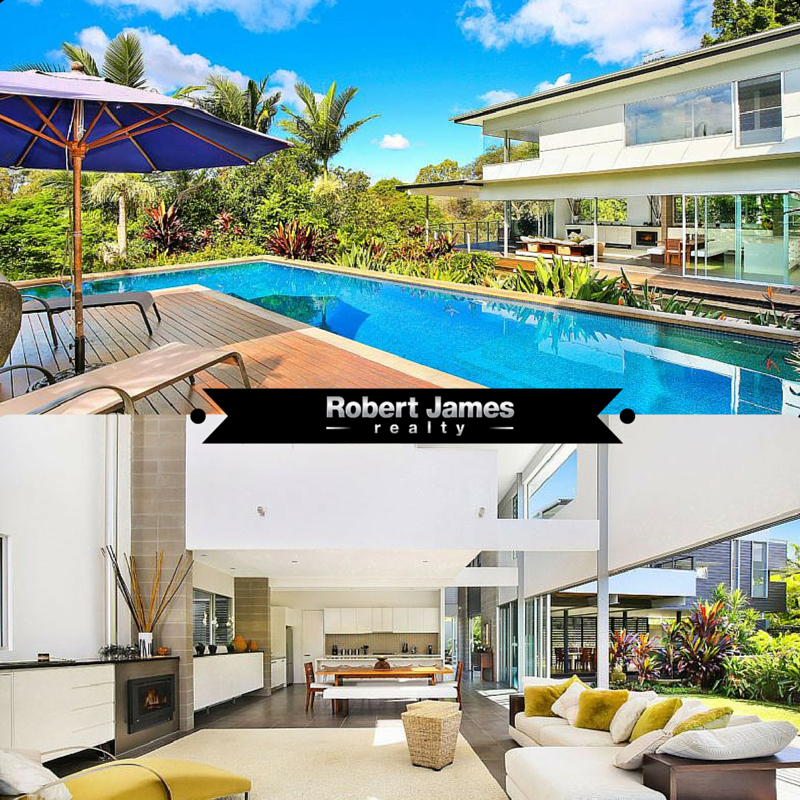 #RobertJamesRealty #Propertyforsale #Realestate  Cleverly designed by Bark Design, this home enjoys the best of positions to enjoy the warmth of the winter sun and yet remain sheltered from the intense summer heat. Gated front entrance with water feature. Open plan living, kitchen and dining with grand sliding doors and windows, Media room or 4th bedroom, on the upper level with two guest bedrooms. Location: 30 Bonavista Crescent, Doonan, QLD, 4562 Click here for more info…