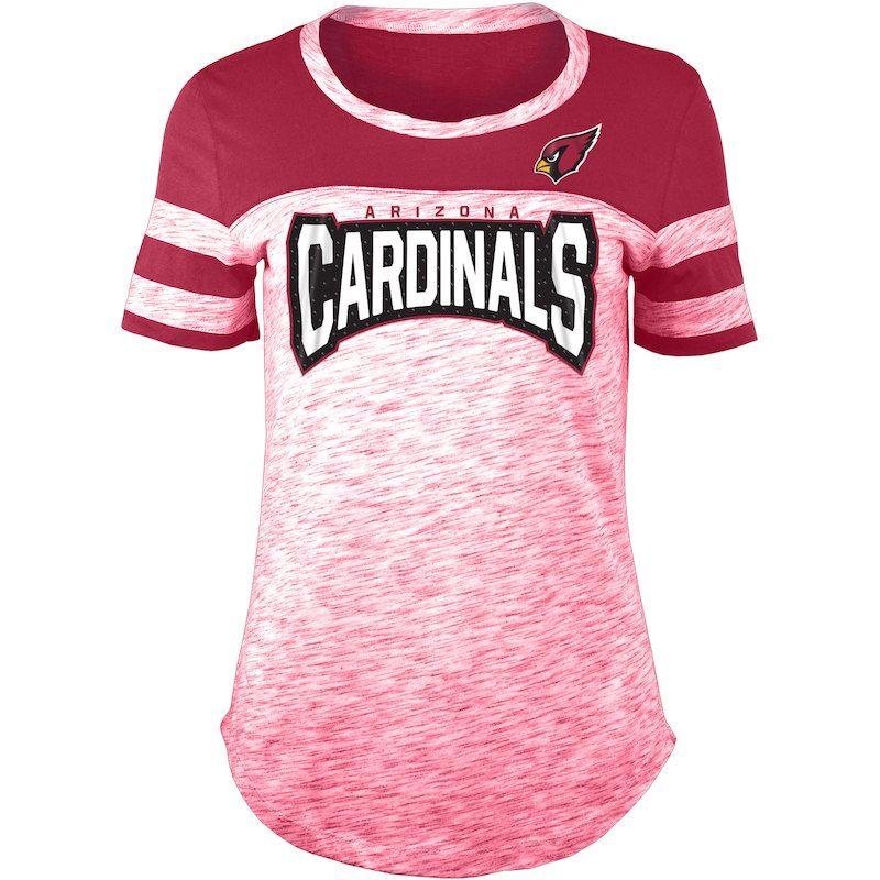 half off 8d85a cdb80 Arizona Cardinals New Era Women's Space Dye Bling T-Shirt ...