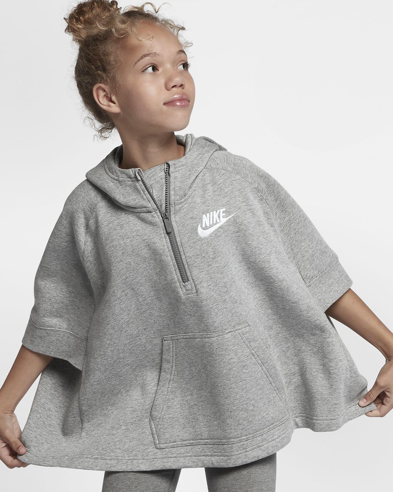9d2fb890b371 Nike Sportswear Big Kids  (Girls ) Pullover Half-Zip Poncho