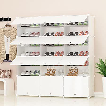 PREMAG Organisateur de Rangement pour Chaussures Portable, Blanc, étagère modulaire pour Gagner ...