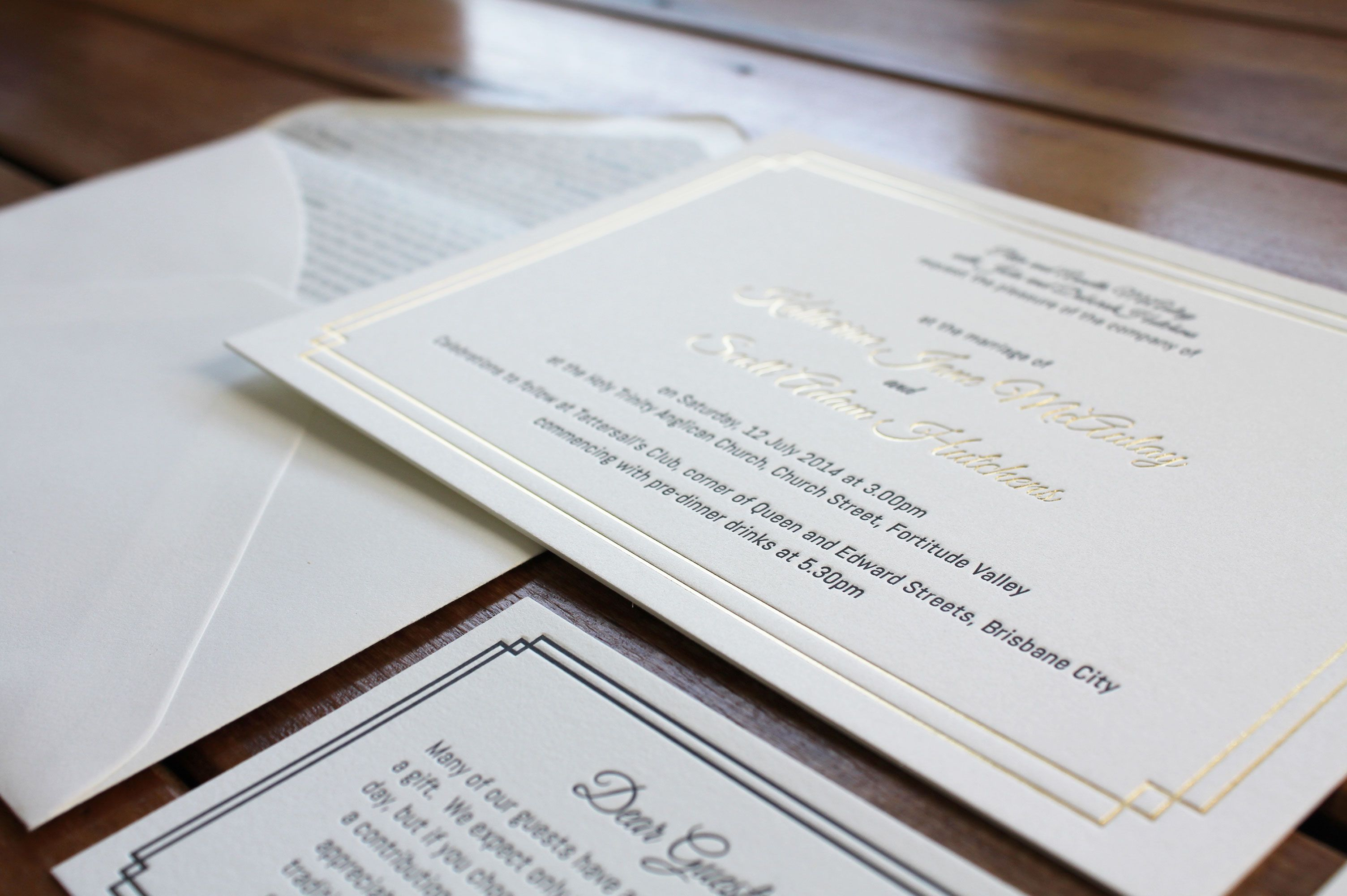 Gold deco lyrics liner letterpress foil designed printed by gold deco lyrics liner letterpress foil designed printed by little peach stopboris Images