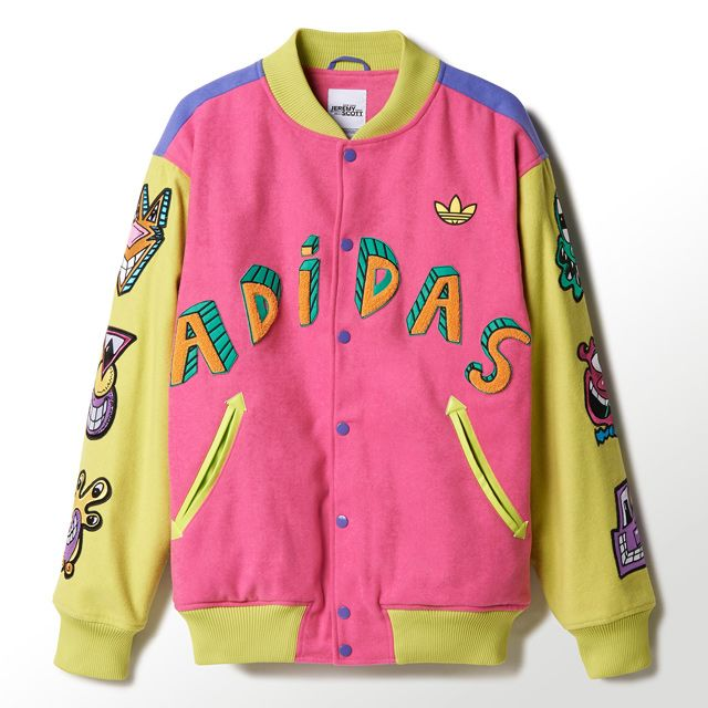 Colorful Y X Jeremy Scott Jacket Adidas Rosa Azul Chaqueta UCT4RWnS