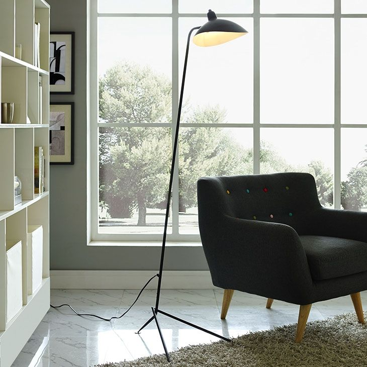 LexMod - View Floor Lamp in Black Lighting Pinterest Floor