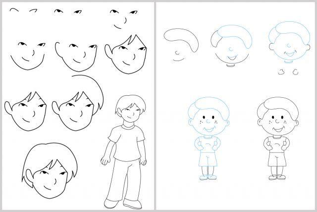 Techniques faciles pour apprendre dessiner cole arts dessin 3e pinterest dessin - Comment dessiner un enfant ...