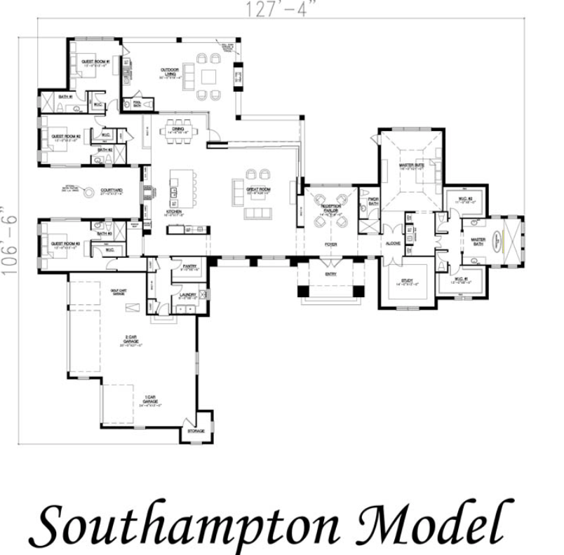 Southampton Model Modern Floor Plans House Plans Farmhouse Craftsman House Plans