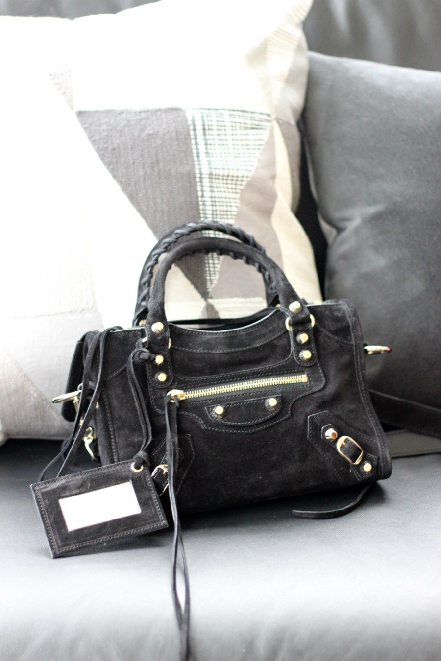 Silver leather tote bag uk - Suede Balenciaga Mini City Bag Bag Bags Lovers Http