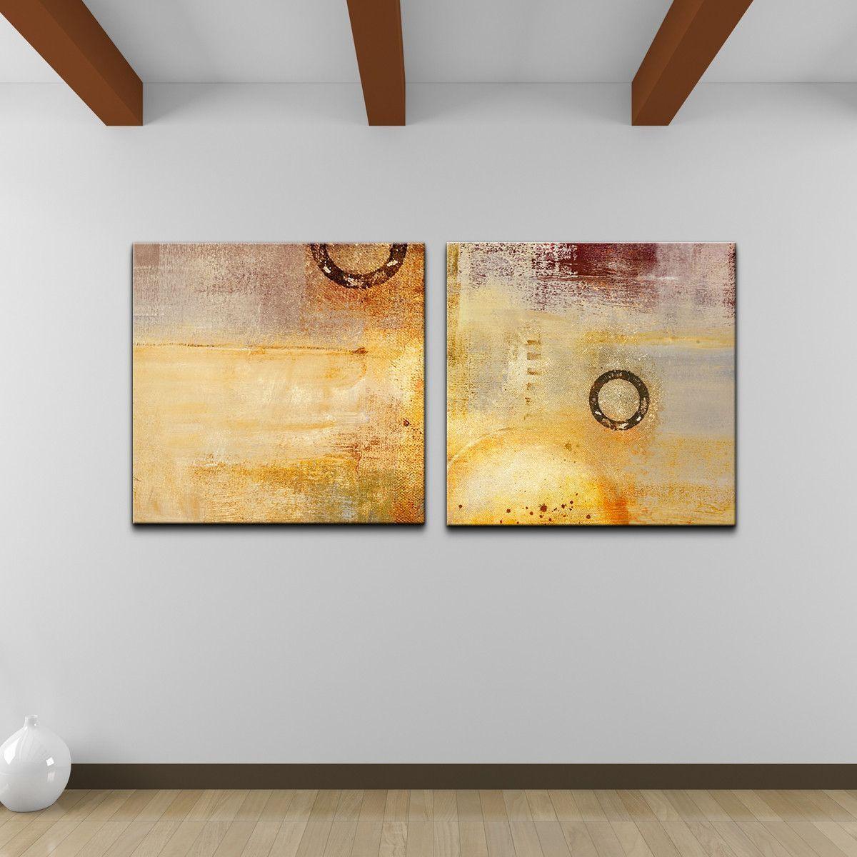 Alexis Bueno \'Abstract Spa\' 2-piece Canvas Wall Art Set   Art ideas ...