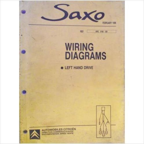 2499 Citroen Saxo LHD Wiring Diagrams Workshop Manual 1996