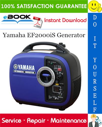 Yamaha Ef2000is Generator Service Repair Manual Repair Manuals Repair Yamaha