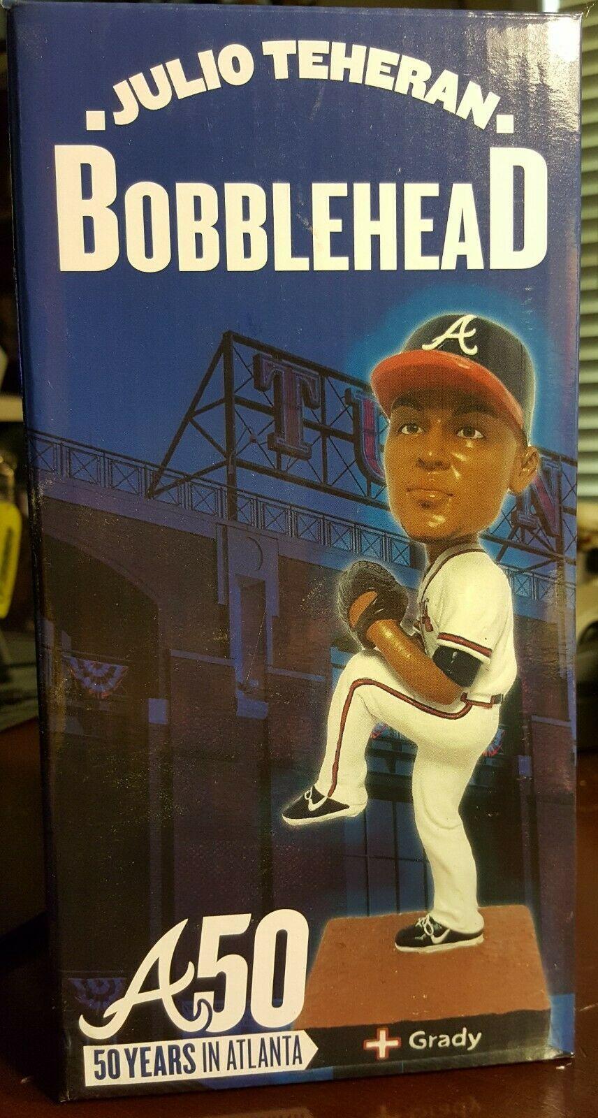 Julio Teheran Sga Bobblehead 9 10 2015 Atlanta Braves 50th Anniversary In Atl In 2020 Atlanta Braves Bobble Head Braves