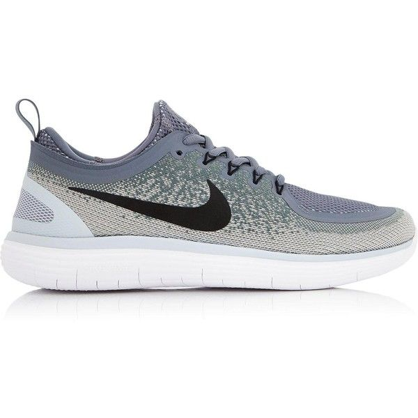 Nike Free Run Distance 2 Running Shoes (2,500 MXN) ❤ liked on Polyvore featuring shoes, athletic shoes, grey, laced up shoes, grey shoes, nike, athletic running shoes and lace up shoes