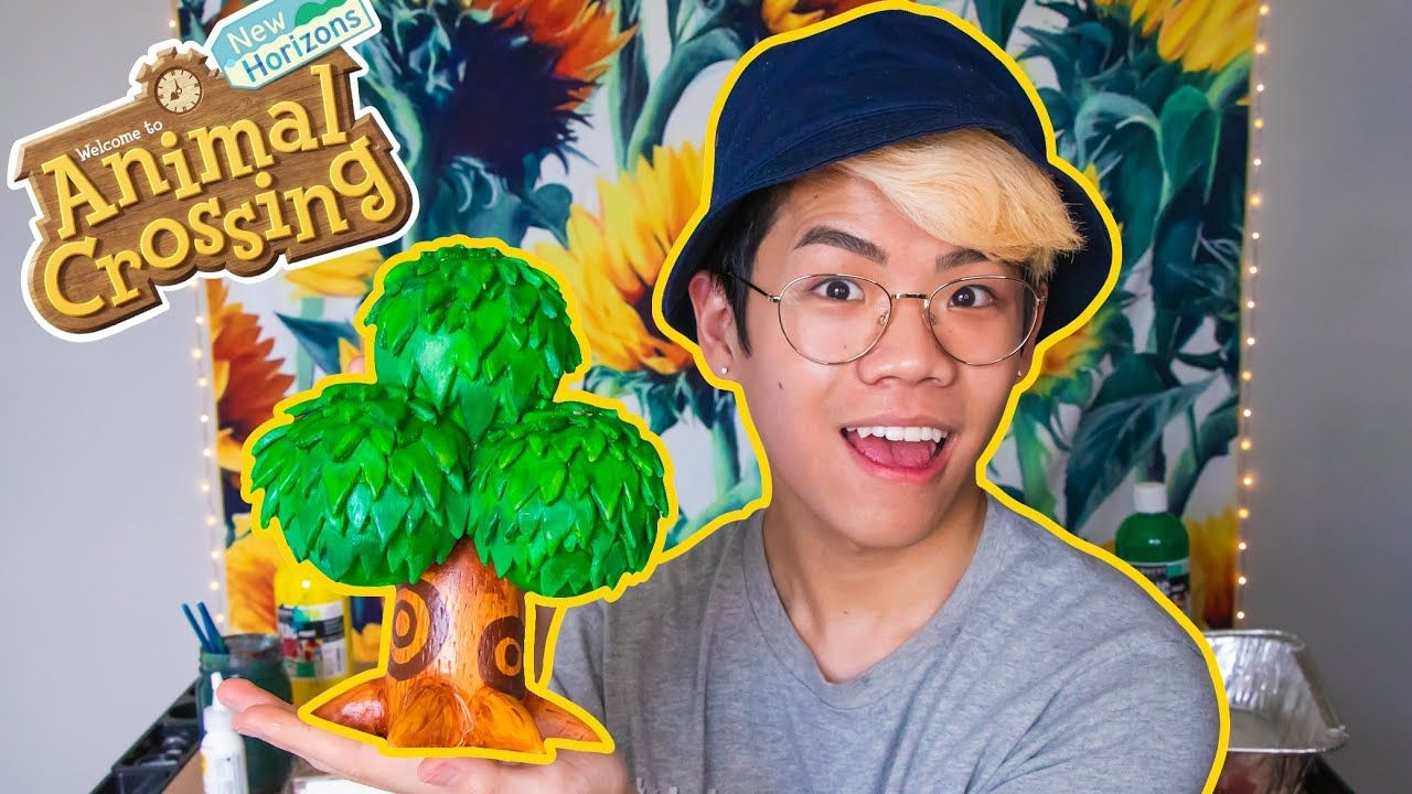 I made an Animal Crossing tree in real life YouTube in