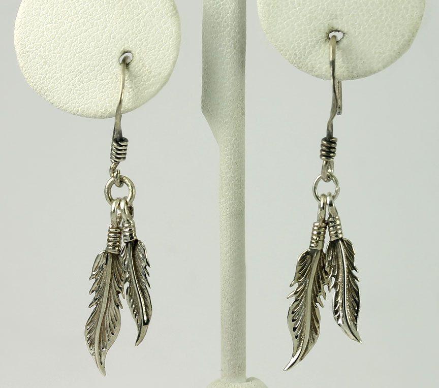 #Vintage #Sterling Silver Double Feather Drop Dangle #Earrings #Fashion http://www.ebay.com/itm/-/401268078971?roken=cUgayN&soutkn=gDS0p6 via @eBay