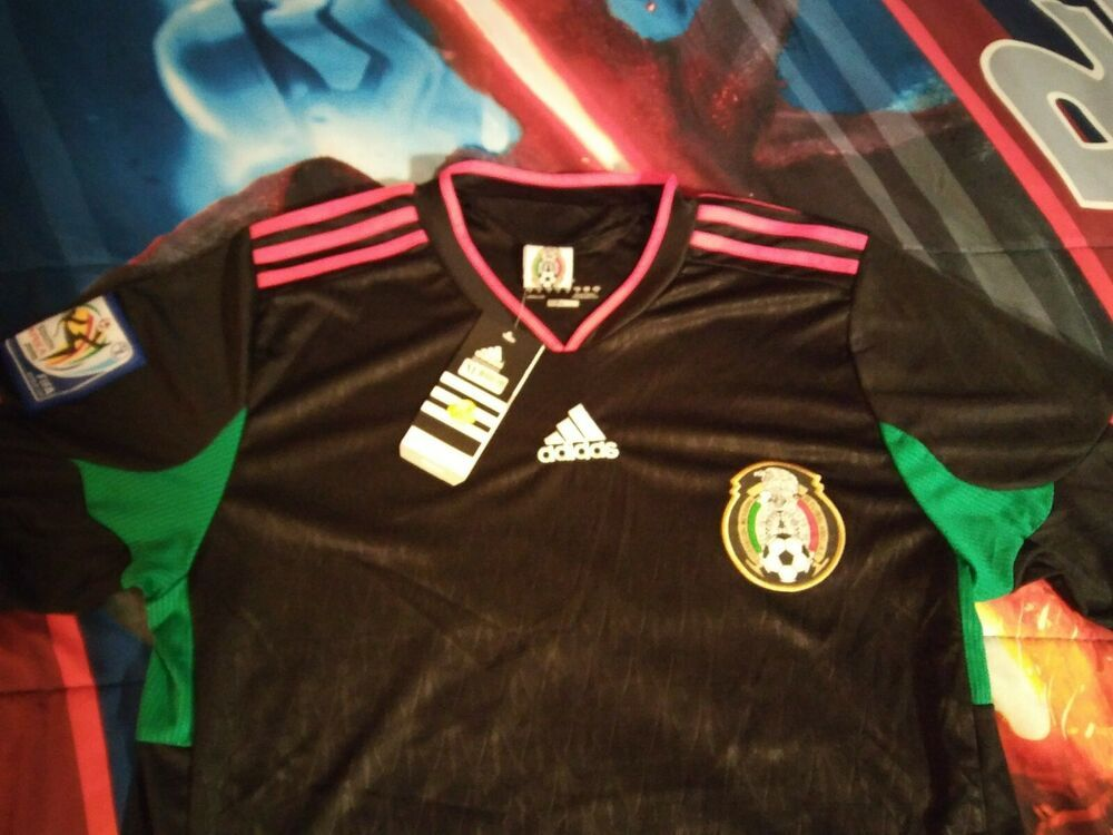 Advertisement Ebay Mexico Soccer Black Jersey W 2010 South Africa World Cup Patch Adidas New M Mexico Soccer New Adidas Football Jersey Shirt