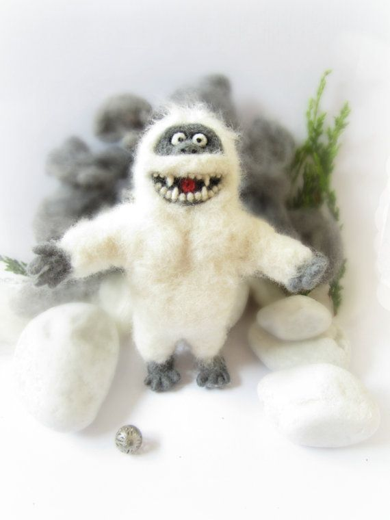 Abominable Snowman Needle Felted by Crafts2Cherish on Etsy