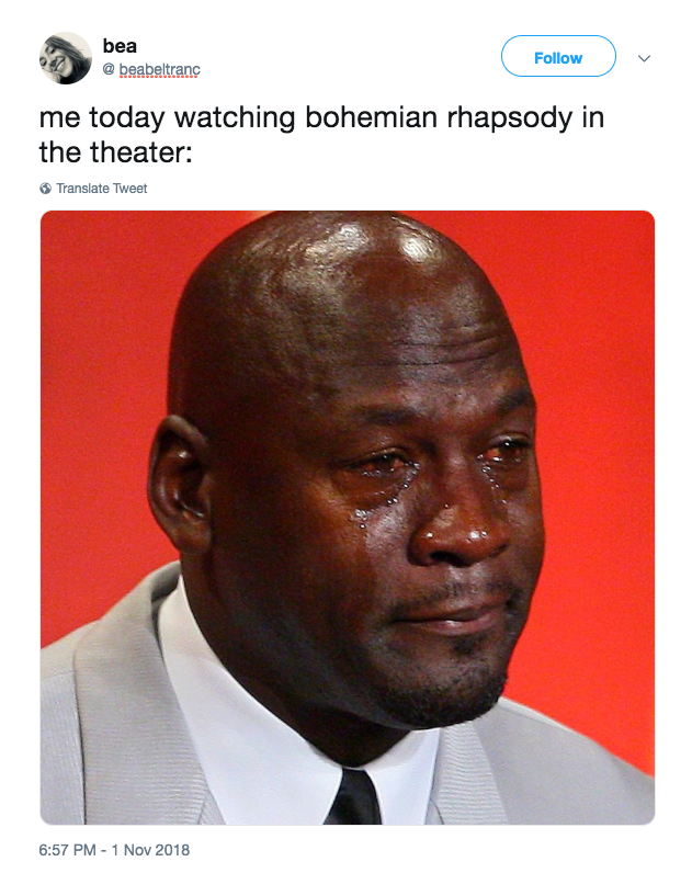 17 Thoughts That Everyone Who Watches The Bohemian Rhapsody Movie Will Have Crying Meme Reactions Meme Crying Meme Face