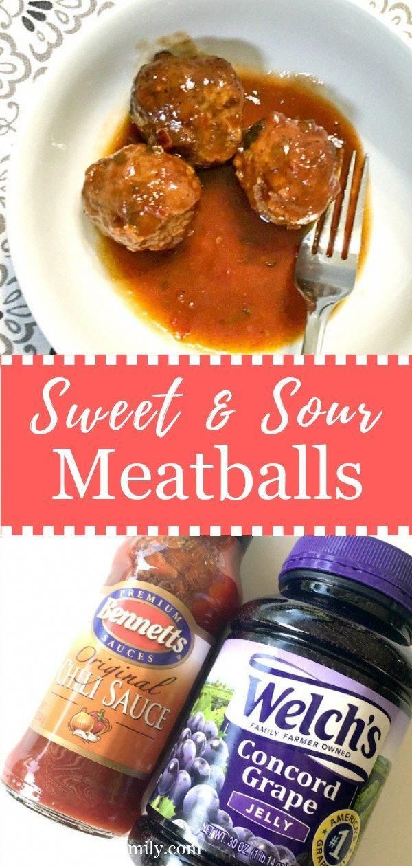 Easy Sweet & Sour Meatballs simmering in the slow cooker are the perfect appetizer for any party. Every Christmas & Thanksgiving party needs to have these party treats. A quick & easy appetizer everyone loves.