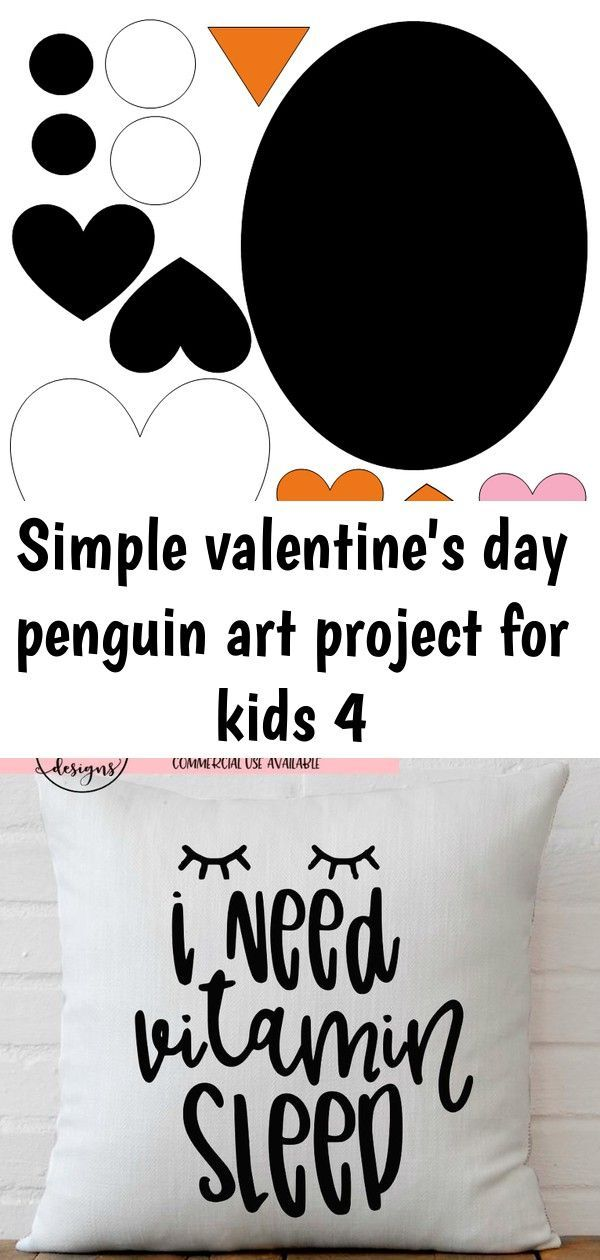 Simple valentine s day penguin art project for kids 4 Simple valentine s day pen...