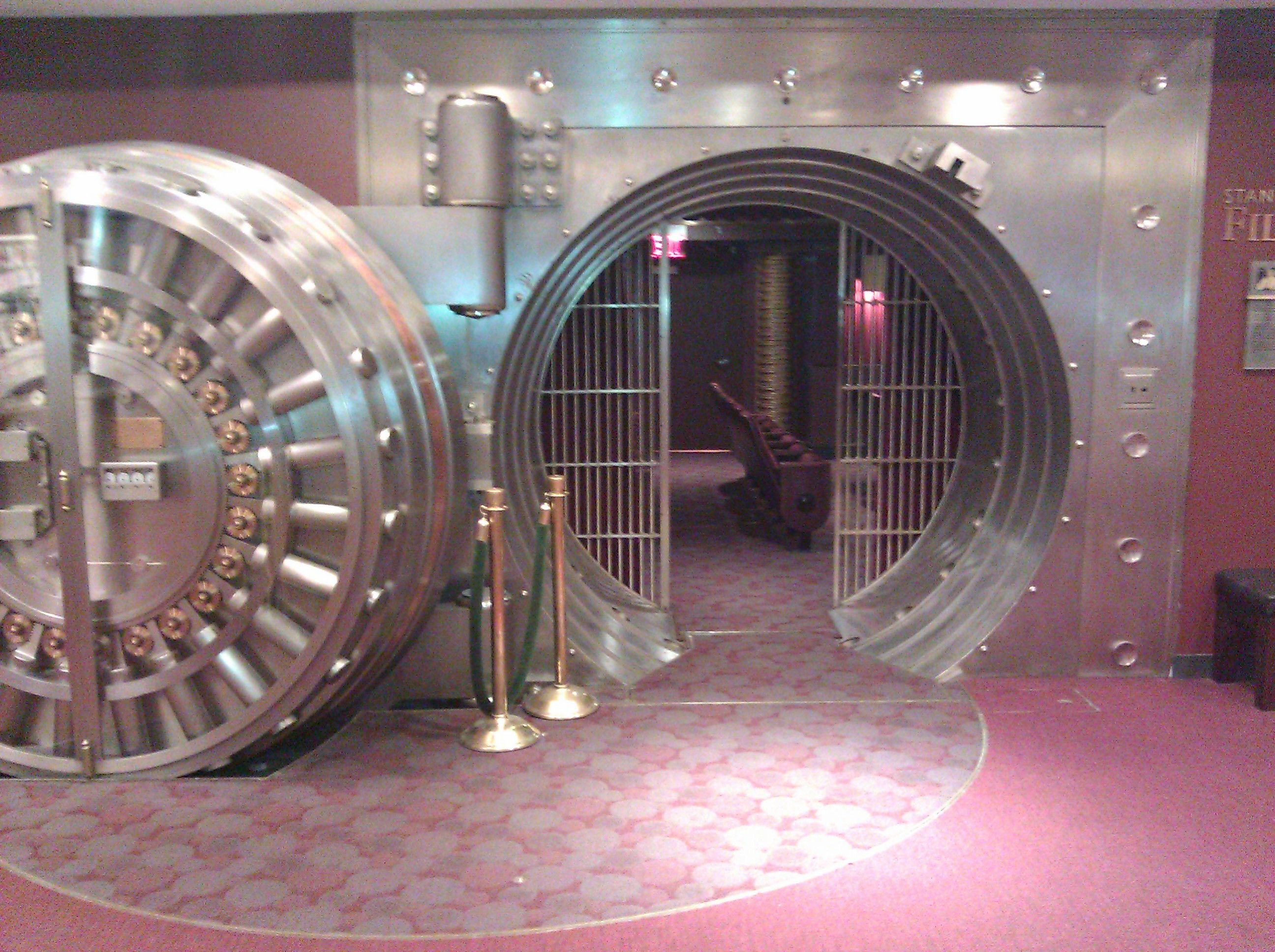 Kansas City Public Library Movie theater in old bank vault