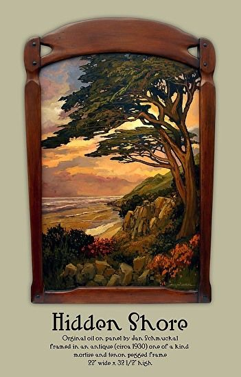 Hidden Shore Would Be A Great Rug Craftsman Paintings Arts Crafts Style Landscape Art