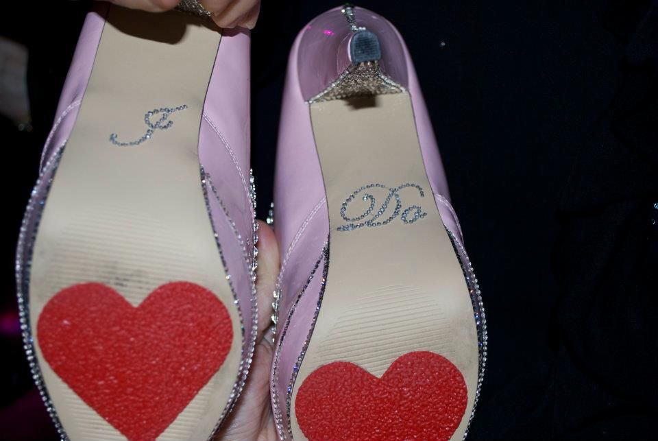 My Wedding Shoes embellished in Swarovski Crystals used to produce this one of a kind design (SS range from 7's to 30's)