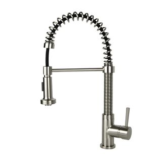 Residential Coil Spring Brushed Nickel Faucet Ping Great Deals On Kitchen Faucets