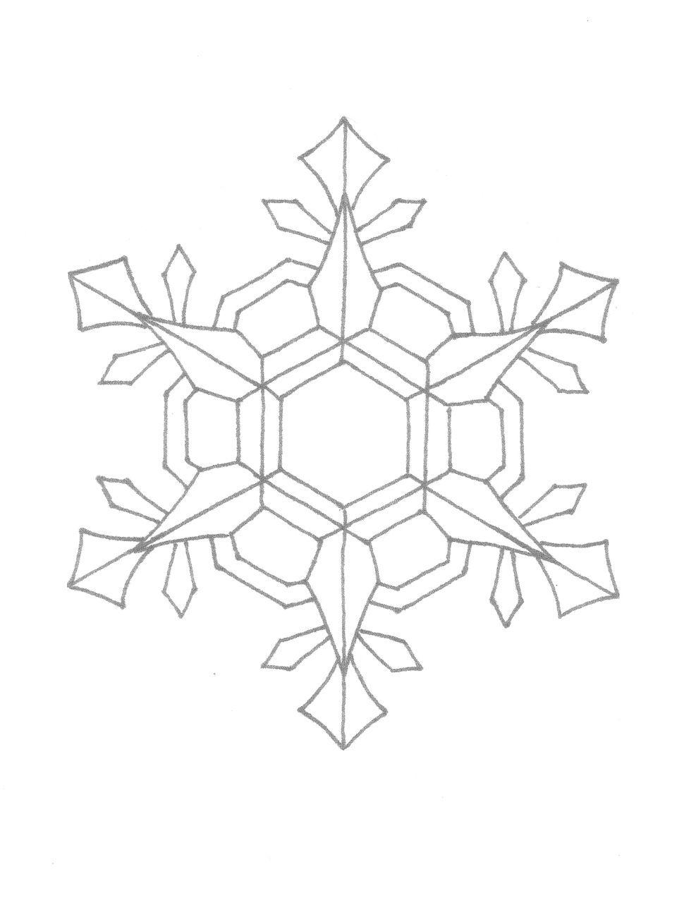 Creator's Joy Snowflake Coloring Page Snowflake