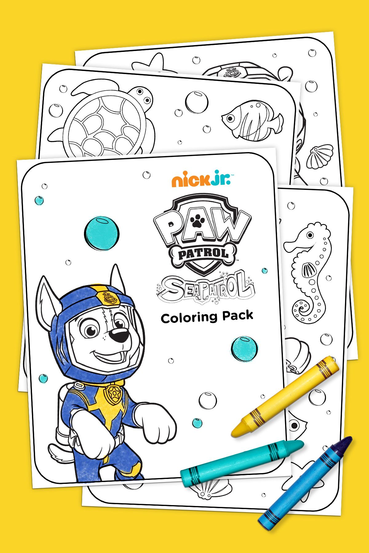 Sea Patrol Coloring Pack in 2019 For the kiddos ) Paw