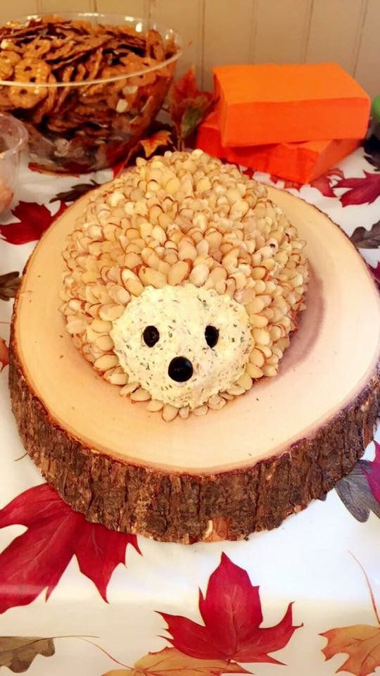 Hedgehog Ranch Bacon Cheddar Cheese Ball For Baby Shower