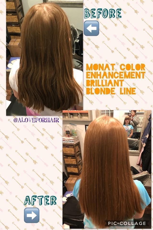 One Wash With Monat Colour Enhancement Brilliant Blonde Available