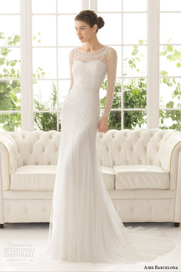 Collection Long Sleeve Sheath Wedding Dress Pictures - Weddings Pro