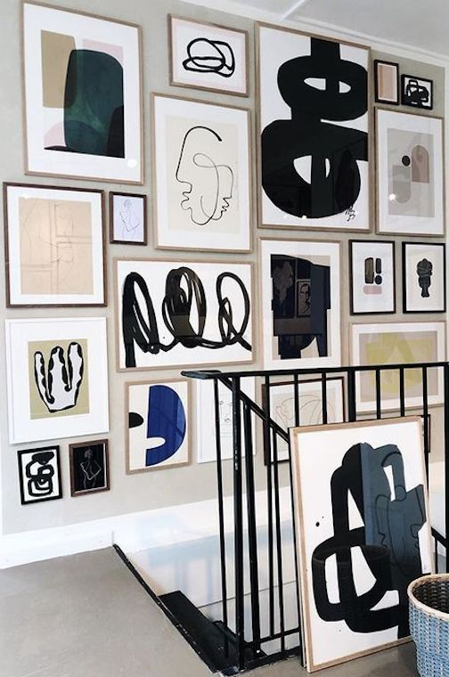 How To Design A Stairway Gallery Wall In 2020 Art Gallery Wall