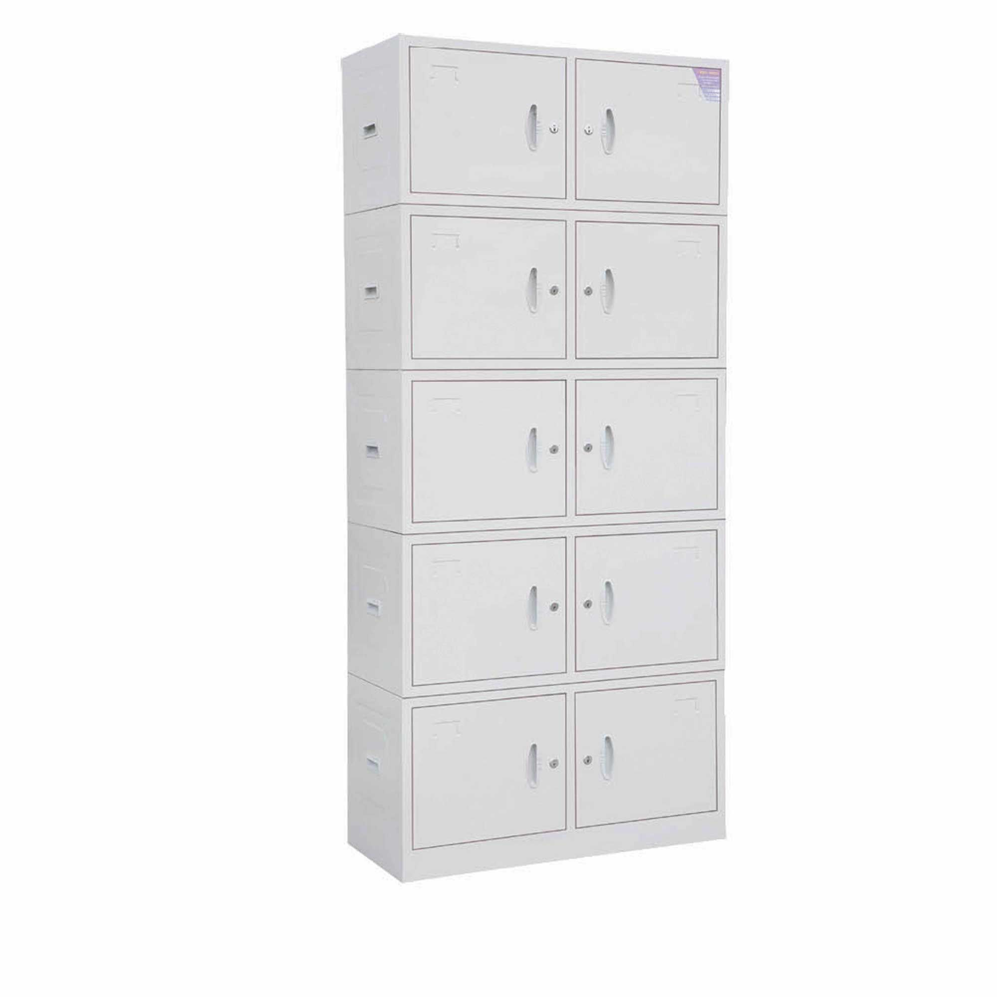 White Stainless Steel Filing Cabinet