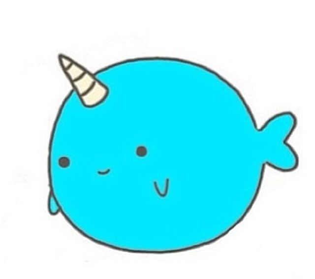 Uniwhale Narwhal Tattoo Cute Animal Drawings Cute Narwhal